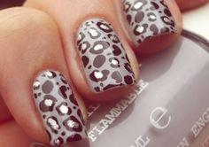 leopard print nails, too cute