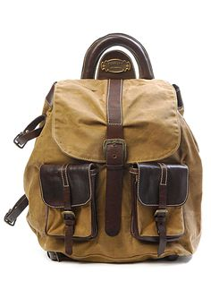 Sandast - Falcon2 Canvas Backpack (Dark Brown)