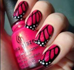 Butterfly Fingernail Design