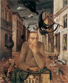 Felix Nussbaum Organ grinder, 1942/43 organ grinder, surrealism, nussbaum organ, nussbaum germanjewish, felix nussbaum, the artist, holocaust, 1943, canvases