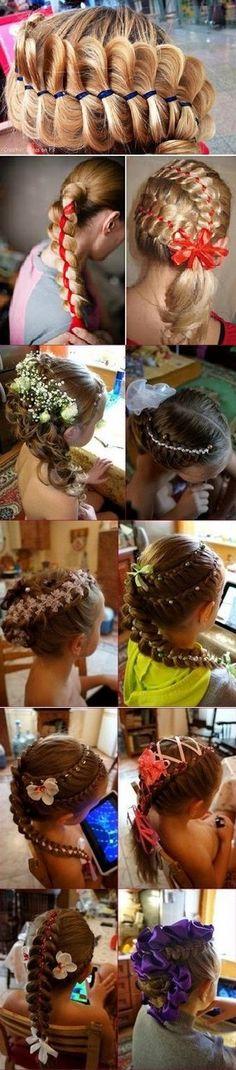 Four Strand Ribbon Braid Headband Hairstyle [video]