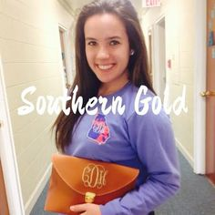 Monogram Clutches by TheSouthernGoldCo on Etsy