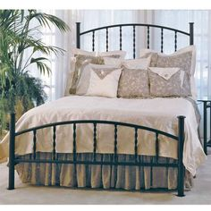 Everman Wrought Iron Bed | Wrought Iron Beds, Bedroom Furniture
