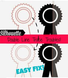 Silhouette School: Silhouette Trace: Double Line Headaches and the Easy Fix