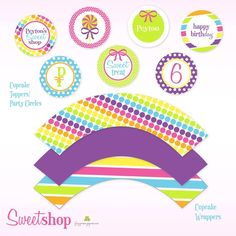 printable paper cupcake toppers/wrappers