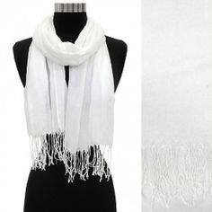 Scarf Ivory Crinkled Style w/ Tassels @ beachcats bargains   http://stores.ebay.com/beachcats-bargains