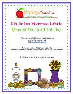 Día de los Muertos Labels for Ofrendas {Printable}
