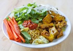 Vietnamese Rice Noodle Salad with Curry Lemongrass Tofu by mschro #Salad #Vietnamese #Noodle #mschro