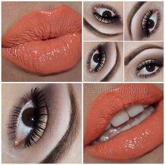 orang lipstick, lip color, makeup inspir, oranges, beauti inspir, anastasiabeverlyhil catwalk, coral lipstick, hair, catwalk palett