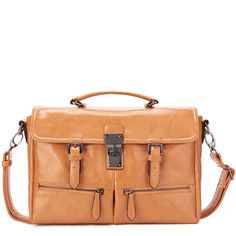 Brown PU Leather Designer Handbag