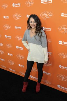 Janel Parrish at the Hollywood Forever Cemetery to celebrate the Pretty Little Liars Halloween Special