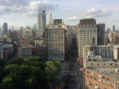 Rare view: straight up Park Avenue from Union Square