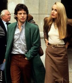 Mick Jagger + Jerry Hall