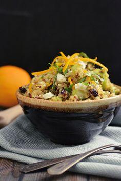 Cranberry, Orange and Goat Cheese Quinoa Salad by kneadforfood #Salad #Quinoa #Cranberry #Orange #Goat_Cheese