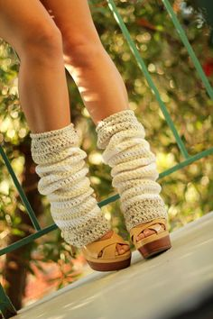 vanilla bean, crochet leg warmers, handmade accessories, fashion, mademoisell mermaid, white, women accessories, legs, dancing shoes