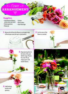 """Whether you're using flowers fresh from your garden or flowers you know will stay """"alive"""" forever, you can create a gorgeous centerpiece fit for the backyard garden you've always dreamed of!"""