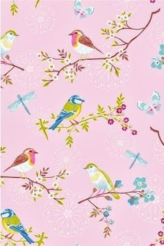 Blossom birds wallpaper, sweet