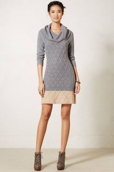 Cowlneck Sweater Tunic - love the simplicity of this dress! #AnthroFave