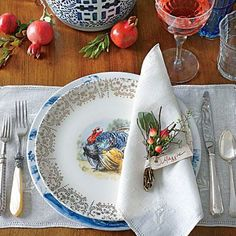Tried & True Thanksgiving Table | Incorporate family pieces into your setting for a sentimental mix. | SouthernLiving.com