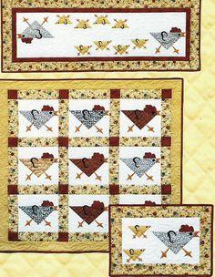 Running Chickens quilt pattern quilt patterns, chicken quilt