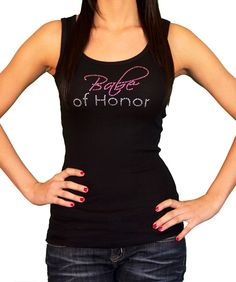"""""""BABE of Honor™"""" for MOH! ;) As featured in Utterly Engaged Magazine ~ Cute Rhinestone Bride & Bridal Party Tops...Perfect for Bachelorette Party!!"""