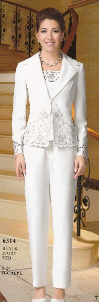 Nina 6314 Lady's Dressy Pant Suit for a Formal Occasion - Fall 2012