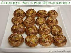 Cheddar Stuffed Mushrooms #Christmas #Appetizer #LMDConnector www.momsandmunchkins.ca