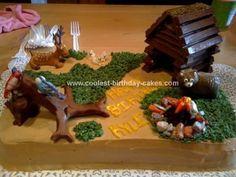 camp cakes, cabin cake, lake cake