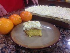 Orange Sunshine Cake #sheetcake #orangecake #yellowcakemix