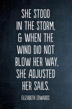 She adjusted her sails.