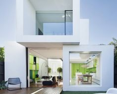 Shakin Stevens' house located in Melbourne, Australia by Matt Gibson Architecture + Design. Love the use of the Lime colour