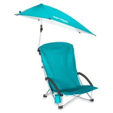 Sport-Brella™ Beach Chair - Aqua Blue
