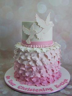 Dove Christening Cake