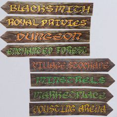 Shop for Medieval Street Sign Cutouts, Medieval, Decorations. Plus tons of other stunning Medieval party supplies, favors, and decorations.