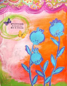 Polite Ladies Use Their Napkins  (for collaging- that is!) This post shows this journal pages development step by step.