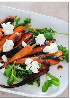 Burnt carrot salad