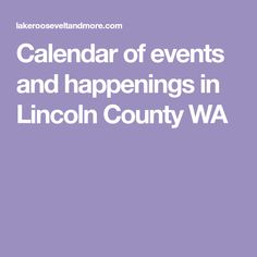 Calendar of events a
