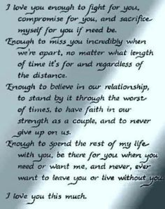 ~ I Love You Enough ~ <3 www.gracetheday.com