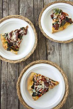 Paula Deen Collard Green Pizza