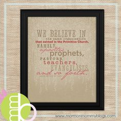 Words of the Prophets - the articles of faith | Mormon Mommy Blogs