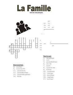 FREE-French Family Crossword