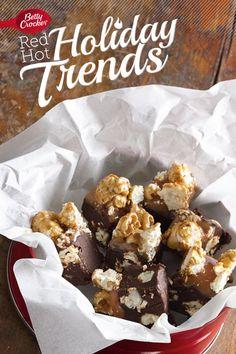 Trend 6: Popcorn Reinvented {Triple-Caramel Popcorn Fudge} #MakeMerry prize pack, betti crocker, popcorn reinvent, triplecaramel popcorn, popcorn fudg, pack giveaway, crocker prize