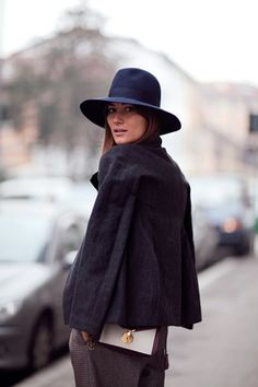 Fashion: New York City Style. The black brimmed hat.