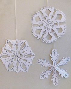 Activities: Easy Paper Snowflakes - Students will love to do this.