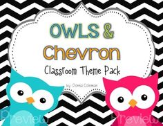 owl+classroom+theme | Owl and Chevron Classroom Theme Pack