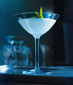 Grey Goose Snowflake Martini, a delicious blend of peppermint schnapps and cream.