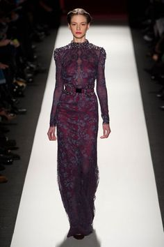 Carolina Herrera Fall 2013: rich fabrics and embellishments