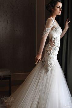 orkalia fall 2014 couture long sleeve wedding dress