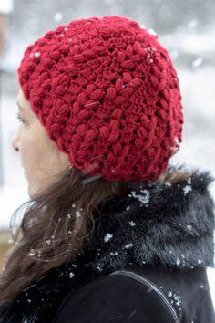 Lindo gorro en Crochet Punto Esponjoso, para convinarlo con los mitones.  Parte 1 de 3