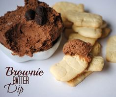 Brownie Batter Dip Recipe...this just looks sinful, must make! ;)